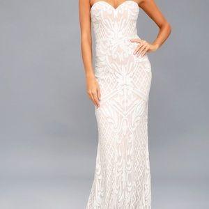 White maxi dress!